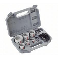 Набор  9 шт би-метал. коронок Standard 20/25/35/40/51/68 мм,  2 адаптера Bosch 2608580868