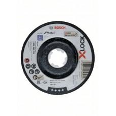 Обдирочный диск Expert for Metal X-LOCK 115x6x22.23 мм вогнутый Bosch 2608619258