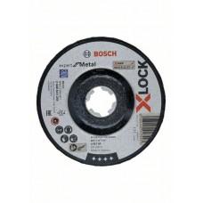Обдирочный диск Expert for Metal X-LOCK 125x6x22.23 мм вогнутый Bosch 2608619259