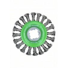 Кольцевая щетка пучки X-LOCK 115 мм INOX СТАЛЬ 0.5 мм Bosch 2608620733