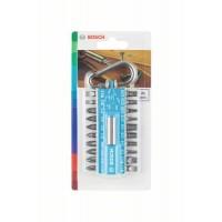 Набор 20 бит + держатель с карабином светло-синий Bosch 2607002822