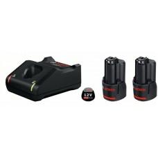 Комплект из 2x аккумуляторов GBA 12 В 2.0 A*ч + з/у GAL 12V-40. Bosch  1600A019R8