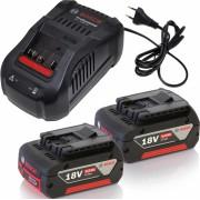 Комплект: Зарядное устройство GAL 1880 CV + 2 аккумулятора GBA 18В 5,0Ач M-C (1600A00B8J)