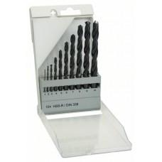 Набор из 10 сверл по металлу HSS-R, DIN 338 (1-10 мм) Bosch Bosch 1609200203