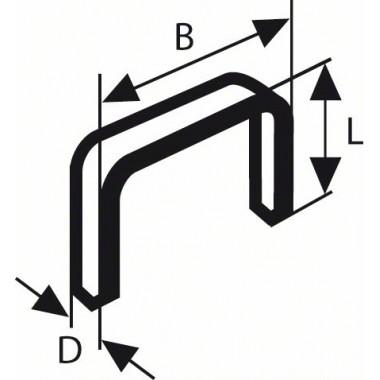 Тонкая металлическая скоба тип 53 11,4x0,74x10 мм Bosch 1609200366