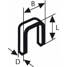 Скоба с узкой перекладиной, тип 55, осмоленнaя 6x1,08x28 мм Bosch 1609200375