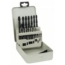 Набор из 19 сверл по металлу HSS-R, DIN 338, в металлической кассете 1-10 мм Bosch 2607018354