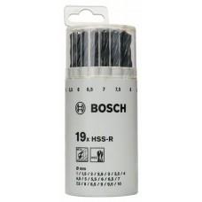 Набор из 19 сверл по металлу HSS-R, DIN 338, в пластиковой круглой упаковке 1-10 мм Bosch 2607018355