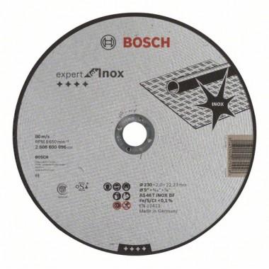 Отрезной круг прямой Expert for Inox AS 46 T INOX BF 230x2,0 мм Bosch 2608600096