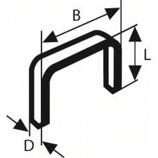 Плоская металлическая скоба тип 57 10,6x1,25x10 мм Bosch 2609200231