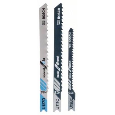 Набор из 3 пильных полотен U 111 C; U 19 BO; U 127 D Bosch 2607010276