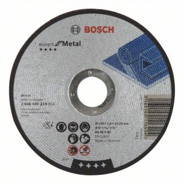Отрезной круг прямой Expert for Metal AS 46 S BF 125x1,6 мм Bosch 2608600219