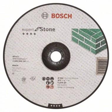 Отрезной круг выпуклый Expert for Stone C 24 R BF 230x3,0 мм Bosch 2608600227