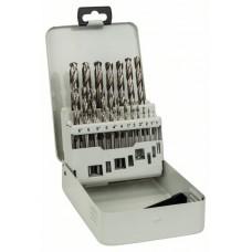 Набор из 19 сверл по металлу HSS-G, DIN 338, 135°, в металлической кассете 1-10 мм Bosch 2607018726