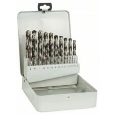 Набор из 25 сверл по металлу HSS-G, DIN 338, 135°, в металлической кассете 1-13 мм, 135° Bosch 2607018727