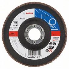 Лепестковый шлифкруг X551 Expert for Metal 125x22,23 мм, 40 Bosch 2608606716