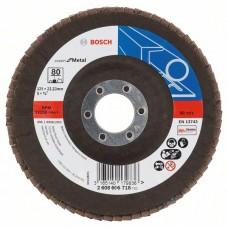 Лепестковый шлифкруг X551 Expert for Metal 125x22,23 мм, 80 Bosch 2608606718