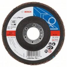 Лепестковый шлифкруг X551 Expert for Metal 115x22,23 мм, 40 Bosch 2608606752