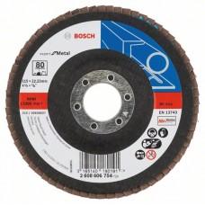 Лепестковый шлифкруг X551 Expert for Metal 115x22,23 мм, 80 Bosch 2608606754