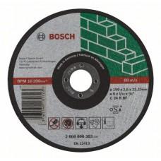 Отрезной круг прямой Expert for Stone C 24 R BF 150x2,5 мм Bosch 2608600383