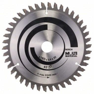 Пильный диск Multi Material 160x20/16x2,4 мм; 42 Bosch 2608640503