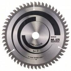 Пильный диск Multi Material 190x20/16x2,4 мм; 54 Bosch 2608640508