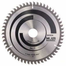 Пильный диск Multi Material 210 x 30 x 2,4 mm; 54 Bosch 2608640511