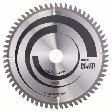 Пильный диск Multi Material 230 x 30 x 2,4 mm; 64 Bosch 2608640513