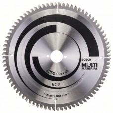 Пильный диск Multi Material 250 x 30 x 3,2 mm; 80 Bosch 2608640516