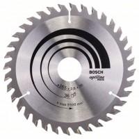 Пильный диск Optiline Wood 165x30x2,6 мм, 36 Bosch 2608640603