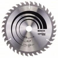 Пильный диск Optiline Wood 190 x 20/16 x 2,6 mm, 36 Bosch 2608640613