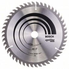 Пильный диск Optiline Wood 190 x 20/16 x 2,6 mm, 48 Bosch 2608640614