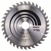 Пильный диск Optiline Wood 190x30x2,6 мм, 36 Bosch 2608640616