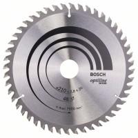 Пильный диск Optiline Wood 210x30x2,8 мм, 48 Bosch 2608640623