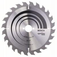 Пильный диск Optiline Wood 230 x 30 x 2,8 mm, 24 Bosch 2608640627