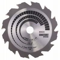 Пильный диск Construct Wood 160x20/16x2,6 мм; 12 Bosch 2608640630
