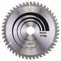 Пильный диск Optiline Wood 216x30x2,8 мм, 48 Bosch 2608640641