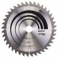 Пильный диск Optiline Wood 250x30x3,2 мм, 40 Bosch 2608640728