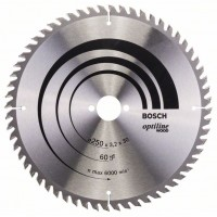 Пильный диск Optiline Wood 250x30x3,2 мм, 60 Bosch 2608640729