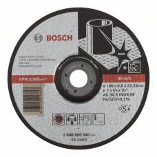 Обдирочный круг выпуклый Expert for Inox AS 30 S INOX BF 180x6,0 мм Bosch 2608600540