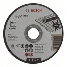 Отрезной круг прямой Expert for Inox - Rapido AS 60 T INOX BF 125x1,0 мм Bosch 2608600549