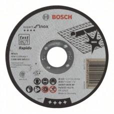 Отрезной круг прямой Expert for Inox - Rapido AS 60 T INOX BF 115x1,0 мм Bosch 2608600545