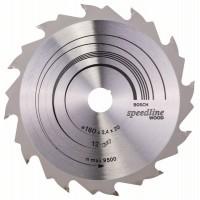 Пильный диск Speedline Wood 160x20x2,4 мм, 12 Bosch 2608640786