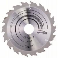 Пильный диск Speedline Wood 165x30x2,4 мм, 18 Bosch 2608640789