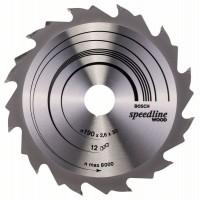 Пильный диск Speedline Wood 190 x 30 x 2,6 mm, 12 Bosch 2608640800