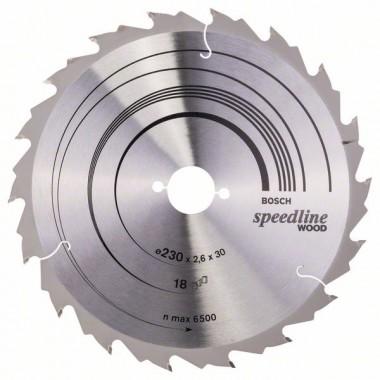 Пильный диск Speedline Wood 230 x 30 x 2,6 mm, 18 Bosch 2608640804