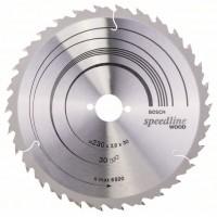 Пильный диск Speedline Wood 230 x 30 x 2,6 mm, 30 Bosch 2608640805