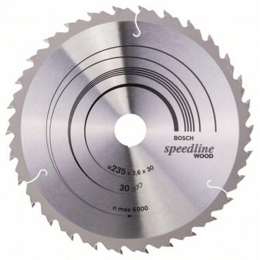 Пильный диск Speedline Wood 235 x 30/25 x 2,6 mm, 30 Bosch 2608640807