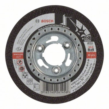 Отрезной круг прямой Inox - SDS-pro A 46 R BF 100x1,2 мм Bosch 2608600701