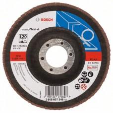 Лепестковый шлифкруг X551 Expert for Metal 115x22,23 мм, 120 Bosch 2608607346
